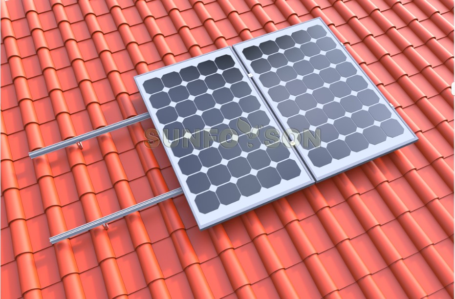 Solar Tile Roof Hooks for PV Mounting System