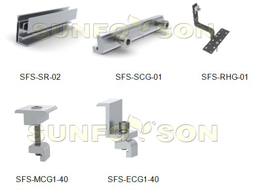 Components for tile roof mounting