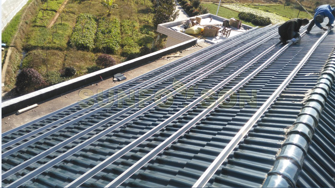 solar aluminum roof mounting system