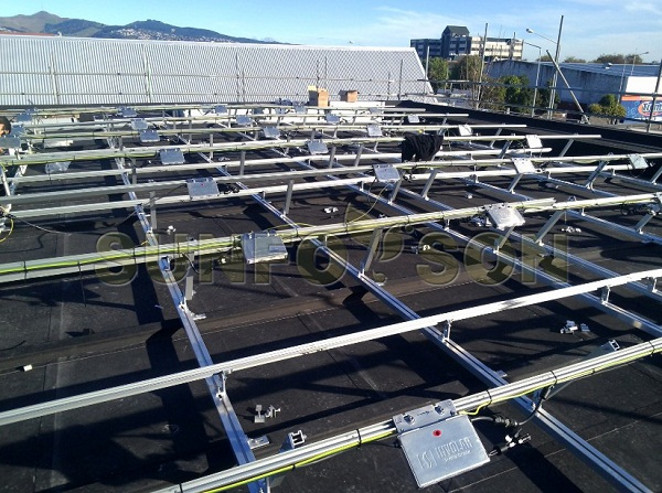 solar aluminum racking mount for flat roof