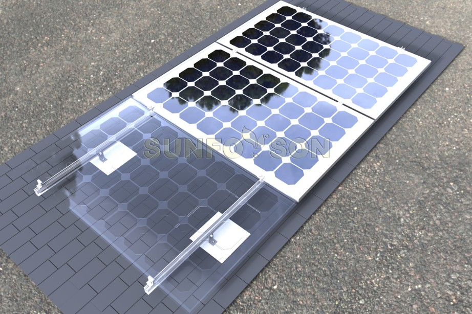 Customized Shingle Roof Solar Mounting System Adjustable