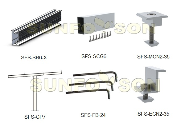 components for carport mounting structure