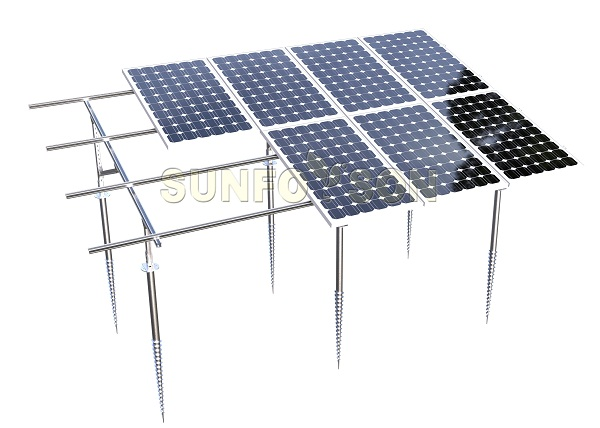 solar panel racking system for power plant