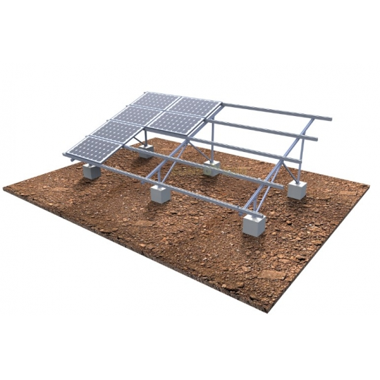 Concrete Base Solar Ground Mounting Structures