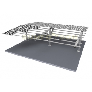 carport mounting structure for solar carport system