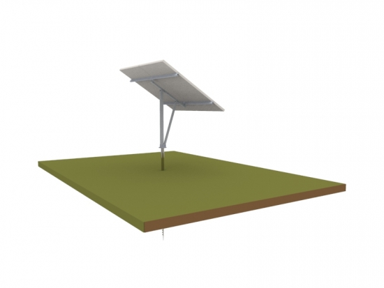 Single Pole Solar Structure