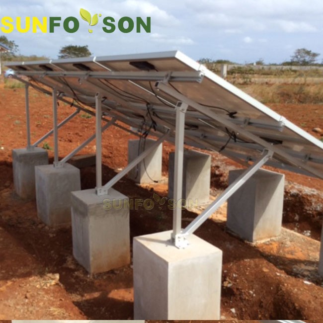 Maintenance of solar powered support