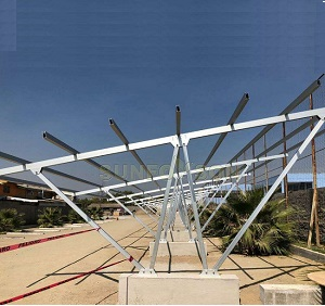 Chile 165kw Solar Carport Projects for Commercial Application