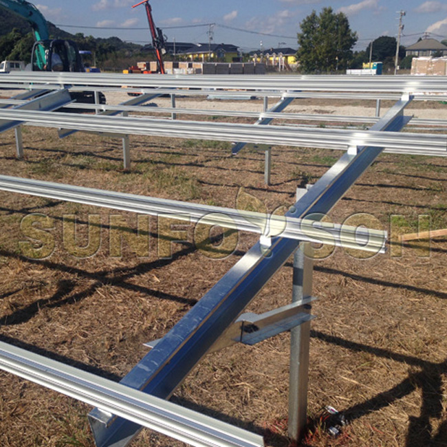 3.5MW pile ground mounting project in Japan