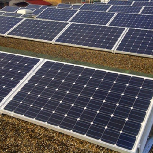 1MW ballast flat roof solar mounting in UK