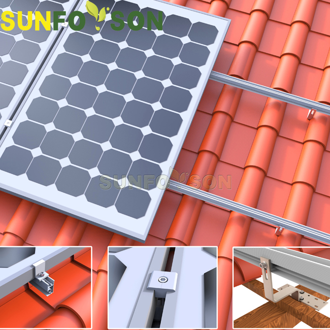 Sunforson tile roof solar bracket project in Mexico